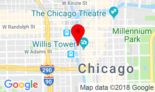 Google Map of 100 S Wacker Drive, Chicago, IL 60606 USA