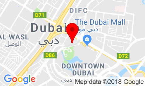 Google Map of Office 2802, Boulevard Plaza, Tower 1, Downtown Dubai, UAE